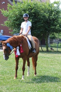 On the Wings of Horses student Taylor riding Darsha